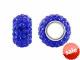 Storywheel® Dark Blue Crystal Bead / Charm style: W657BLU