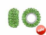 Storywheel® Light Green Crystal Bead / Charm style: W657GRN