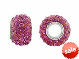 Storywheel® Hot Pink Crystal Bead / Charm style: W657HTPNK