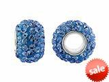 Storywheel® Light Blue Crystal Bead / Charm style: W657LGTBLU