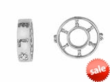 Storywheel® Created White Sapphire Bead / Charm style: W76