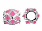 Storywheel® Pink Enamel Bead / Charm style: W408PNK