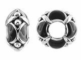 Storywheel® Black Enamel Bead / Charm style: W436BLK