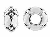 Storywheel® White Enamel Bead / Charm style: W436WHT