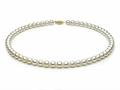 18 inch White Fresh Water Cultured Pearl Necklace 7-7.5 mm each