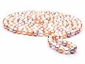 Finejewelers 60 inch Multicolor Fresh Water Cultured Pearl Rope 7-8 mm each
