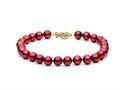 Cranberry Fresh Water Cultured Pearl (dyed) Bracelet 6.5-7 mm each