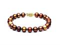 Multicolor Chocolate Fresh Water Cultured Pearl (dyed) Bracelet 7-7.5mm each