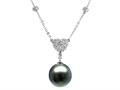 Finejewelers Cultured Pearl Pendant Necklace
