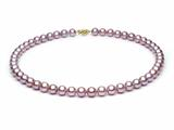 18 inch Lavender Fresh Water Cultured Pearl Necklace 7-8 mm each style: FW050204