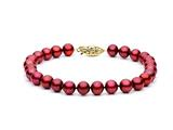 Cranberry Fresh Water Cultured Pearl (dyed) Bracelet 6.5-7 mm each style: FW050363