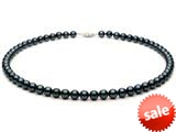 18 inch Black Fresh Water Cultured Pearl (dyed) Necklace 9-10mm each style: FW050268