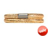Endless Jennifer Lopez Golden Reptile, 38cm/7.5inch Double Leather Bracelet Steel Finish style: 100138