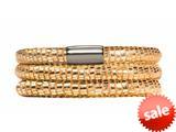 Endless Jennifer Lopez Golden Reptile, 63cm/8.5inch Triple Leather Bracelet Steel Finish style: 100163
