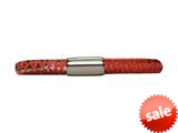 Endless Jennifer Lopez Red Reptile, 19cm/7.5inch Single Leather Bracelet Steel Finish style: 100219