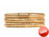Endless Jewelry - Jennifer Lopez Collection Golden Reptile, 60cm/8.0inch Triple Leather Bracelet Finish style: 105160