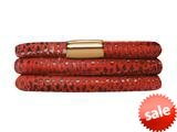 Endless Jewelry - Jennifer Lopez Collection Red Reptile, 57cm/7.5inch Triple Leather Bracelet Gold Finish style: 105257