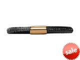 Endless Jewelry - Jennifer Lopez Collection Black Reptile, 18cm/7.0inch Single Leather Bracelet Gold Finish style: 105318