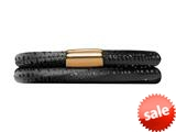Endless Jewelry - Jennifer Lopez Collection Black Reptile, 40cm/8.0inch Double Leather Bracelet Gold Finish style: 105340