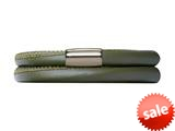 Endless Jewelry Green Leather 40cm/8.0inch Double Leather Bracelet Steel Finish style: 1210240