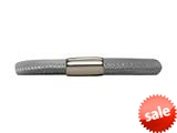 Endless Jewelry Grey Leather 20cm/8.0inch Single Leather Bracelet Steel Finish style: 1210320