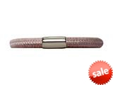 Endless Jewelry Brown Leather 19cm/7.5inch Single Leather Bracelet Steel Finish style: 1210519