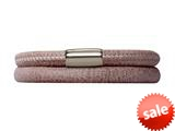 Endless Jewelry Brown Leather 38cm/7.5inch Double Leather Bracelet Steel Finish style: 1210538