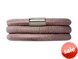 Endless Jewelry Brown Leather 57cm/7.5inch Triple Leather Bracelet Steel Finish style: 1210557