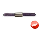 Endless Jewelry Purple Leather 20cm/8.0inch Single Leather Bracelet Steel Finish style: 1210620