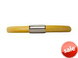 Endless Jewelry Yellow Leather 19cm/7.5inch Single Leather Bracelet Steel Finish style: 1210919