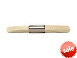 Endless Jewelry Nude Leather 20cm/8.0inch Single Leather Bracelet Steel Finish style: 1211220