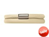 Endless Jewelry Nude Leather 38cm/7.5inch Double Leather Bracelet Steel Finish style: 1211238