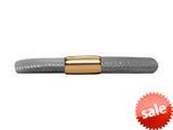 Endless Jewelry Grey Leather 19cm/7.5inch Single Leather Bracelet Gold-Tone Finish style: 1250319