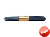 Endless Jewelry Blue Leather 20cm/8.0inch Single Leather Bracelet Gold-Tone Finish style: 1250420