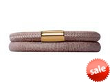Endless Jewelry Brown Leather 38cm/7.5inch Double Leather Bracelet Gold-Tone Finish style: 1250538