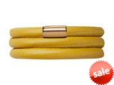 Endless Jewelry Yellow Leather 54cm/7.0inch Triple Leather Bracelet Gold-Tone Finish style: 1250954