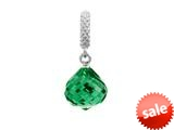 Endless Jewelry - Jennifer Lopez Collection Emerald Mysterious Drop Silver Emerald Crystal Silver Finish style: 13015