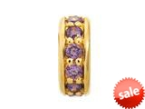 Endless Jewelry - Jennifer Lopez Collection Amethyst Dreamy Dot Amethyst Cubic Zirconia Gold Finish style: 16001