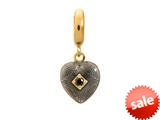 Endless Jewelry - Jennifer Lopez Collection Black Big Heart Black Cubic Zirconia Gold Finish style: 18751