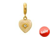 Endless Jewelry - Jennifer Lopez Collection White Big Heart White Cubic Zirconia Gold Finish style: 18752