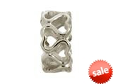 Endless Jewelry Multiple Hearts Silver Rhodium Silver Finish style: 41152
