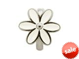Endless Jewelry White Enamel Flower Silver White Enamel Rhodium Silver Finish style: 411551