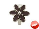 Endless Jewelry Black Enamel Flower Silver Black Enamel Rhodium Silver Finish style: 411554
