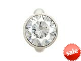 Endless Jewelry Round White Dome Silver White Cubic Zirconia Rhodium Silver Finish style: 411582