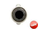 Endless Jewelry Round Black Dome Silver Black Cubic Zirconia Rhodium Silver Finish style: 411584