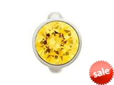 Endless Jewelry Round Citrine Dome Silver Citrine Cubic Zirconia Rhodium Silver Finish style: 411585