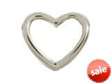 Endless Jewelry Open Heart Silver Rhodium Silver Finish style: 41161