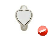 Endless Jewelry White Enamel Heart Silver White Enamel Rhodium Silver Finish style: 412001