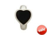 Endless Jewelry Black Enamel Heart Silver Black Enamel Rhodium Silver Finish style: 412002
