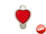 Endless Jewelry Red Enamel Heart Silver Red Enamel Rhodium Silver Finish style: 412003
